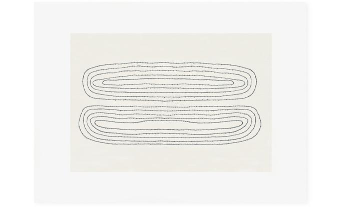 Looped, 76 x 56cm, screenprint on Fabriano