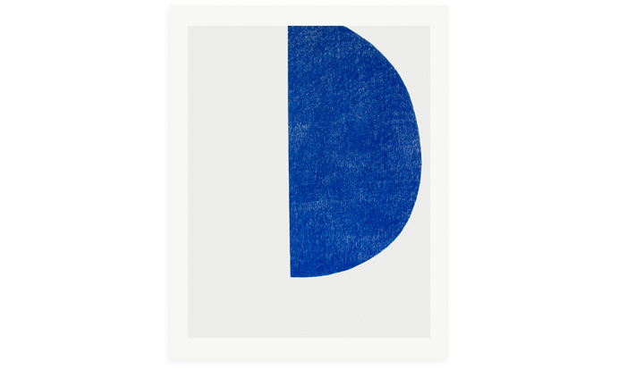 Big Blue, 56 x 76cm screenprint on Fabriano 2018