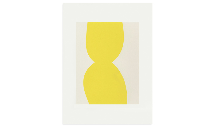 Yellow Form 30 x 40cm screenprint on Fabriano