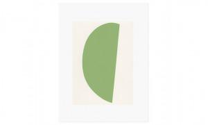 Green Curve 30 x 40cm screenprint on Fabriano