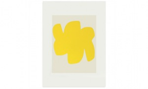 Yellow Form III 30 x 40cm screenprint on Fabriano